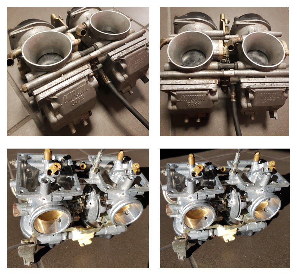 Ultrasoon reinigen carburateurs Yamaha